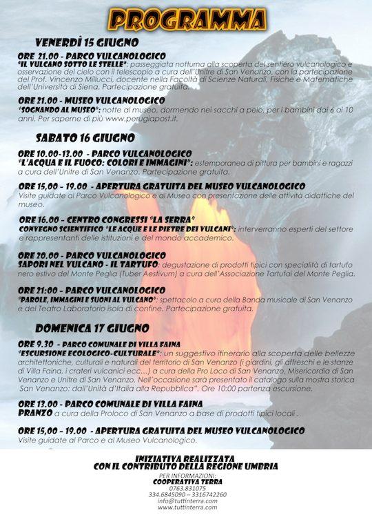 Programma Civiltà dei Vulcani 2012