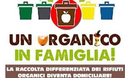 Raccolta domiciliare della frazione organica, al via il servizio