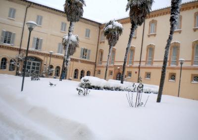 Nevicata sul Parco di Villa Faina